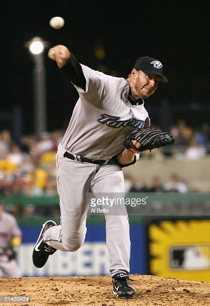 American League AllStar Roy Halladay of the Toronto Blue Jays pitches to the National League AllStar during the 77th MLB AllStar Game at PNC Park on...