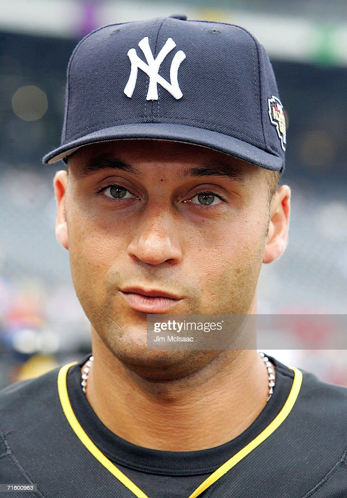 American League All-Star shortstop Derek Jeter #2 of the New York Yankees warms-up for the 77th MLB All-Star Game against the National League All-Stars at PNC Park on July 11, 2006 in Pittsburgh, Pennsylvania. The American League won 3-2.
