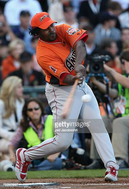American League AllStar Vladimir Guerrero of the Los Angeles Angels of Anaheim competes in round 1 of the 78th Major League Baseball AllStar Home Run...