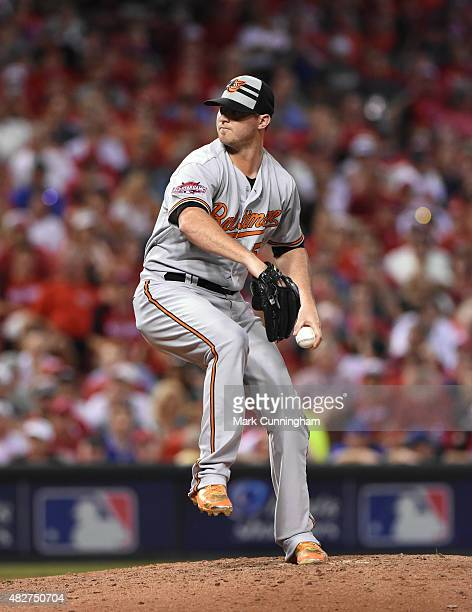 American League AllStar Zach Britton of the Baltimore Orioles pitches during the 86th MLB AllStar Game at Great American Ball Park on July 14 2015 in...