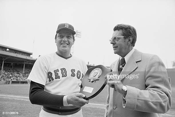 American League Rookie of the Year Boston Carlton Fisk Boston Red Sox Catcher receives the Ford C Frick Award as the 1972 American League Rookie of...