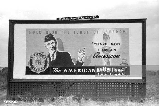 American Legion Billboard Brownwood Texas USA Russell Lee Farm Security Administration November 1939