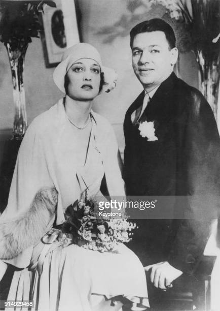 American librettist Oscar Hammerstein II after his wedding to interior designer Dorothy Blanchard at the Hotel Belvedere in Baltimore Maryland 13th...