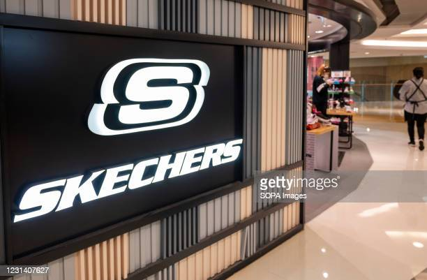 American lifestyle and performance footwear brand, Skechers store seen in Hong Kong.