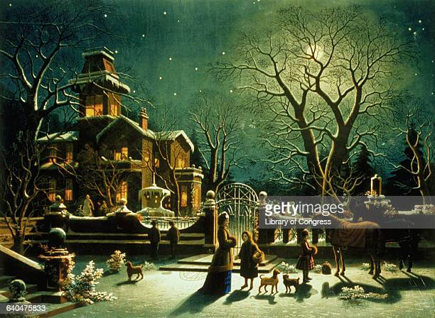 American Lithograph The Night Before Christmas