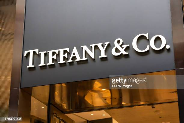 American luxury jewellery and speciality retailer Tiffany Co logo seen in Shenzhen