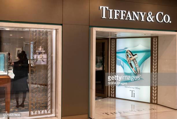 American luxury jewellery company Tiffany Co store seen in Hong Kong