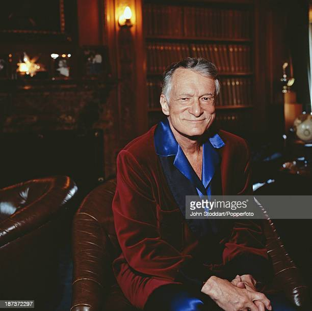 American magazine publisher and founder of Playboy Enterprises Hugh Hefner 1999