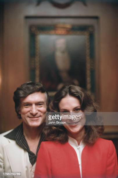 American magazine publisher, founder, and chief creative officer of Playboy Enterprises Hugh Hefner with his daughter and new president of the...