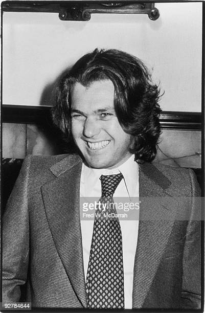 American magazine publisher Jann Wenner smiles as he attends an unspecified event New York New York January 28 1978