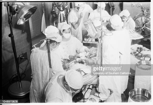 American Medical Association Convention Heart Operation in General Hospital televised 7 December 1951 Richard D Russell patientMrs JC Russell mother...