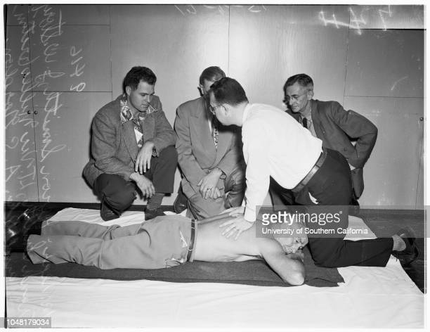 American Medical Association convention New method of artificial respiration 6 December 1951 Doctor AS GordonHeron SmithJW StoryFrank SmithLieutenant...