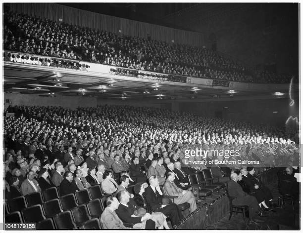 American Medical Association onventionShrine Auditorium 5 December 1951 Senator Robert A TaftDoctor Louise Gloeckner only woman delegateSenator Harry...