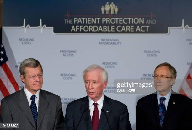 American Medical Association Presidentelect Dr Cecil Wilson announces the AMA's endorsement of the US Senate's healthcare reform legislation...