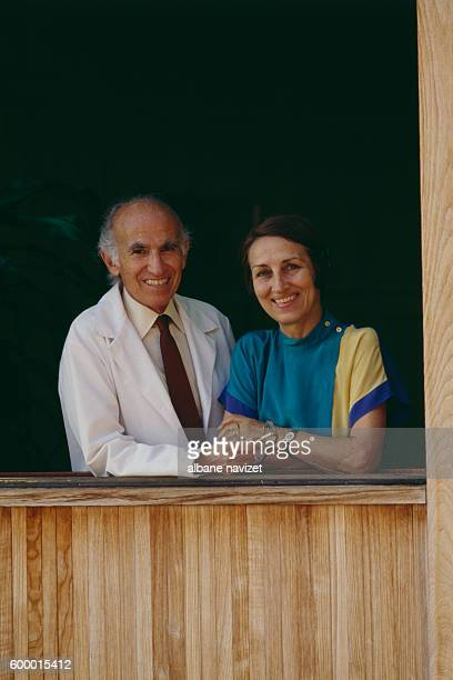 American medical researcher and virologist and his wife French painter Francoise Gilot