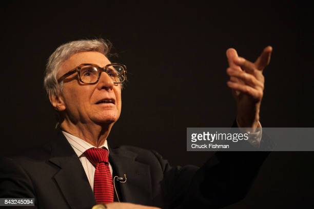 American mentalist Kreskin performs onstage during the Chocolate Expo at the Maritime Aquarium Norwalk Connecticut January 29 2017