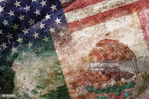 american mexican flag - mexican flag stock pictures, royalty-free photos & images