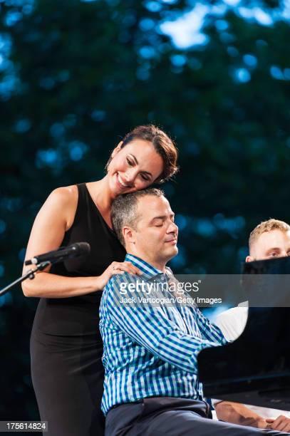 American mezzo-soprano Isabel Leonard and pianist Bradley Moore perform 'Tu n'est pas beau, tu n'est pas riche' from Jacques Offenbach's 'La...