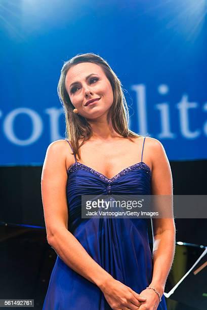 American mezzo-soprano Isabel Leonard performs an aria during the seventh annual, season-opening concert in the Metropolitan Opera Summer Recital...