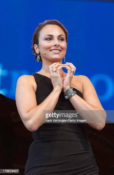 American mezzosoprano Isabel Leonard performs an aria from Gioacchino Rossini's 'Il Barbiere di Siviglia' at the fifth annual seasonopening concert...