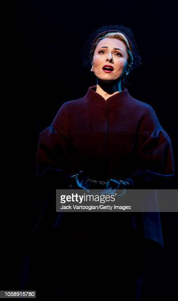 American mezzosoprano Isabel Leonard performs at the final dress rehearsal prior to the US premiere of the Metropolitan Opera/English National Opera...