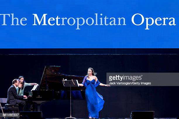 American mezzosoprano Isabel Leonard performs during the seventh annual seasonopening concert in the Metropolitan Opera Summer Recital Series at...
