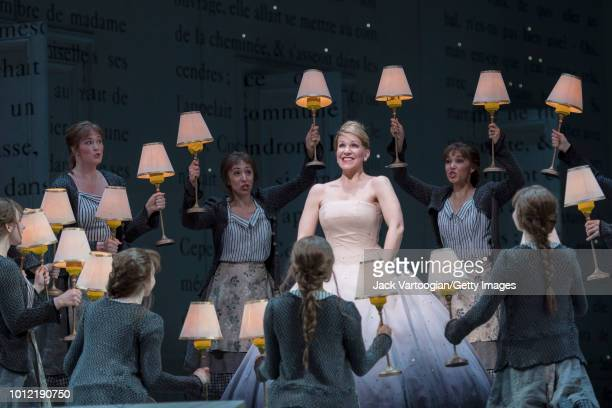 American mezzo-soprano Joyce DiDonato performs at the final dress rehearsal prior to the Metropolitan Opera premiere of Laurent Pelly's production of...