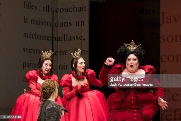 American mezzosoprano Joyce DiDonato with from left Chinese soprano Ying Fang Israeili mezzosoprano Maya Lahyani and American mezzosoprano Stephanie...