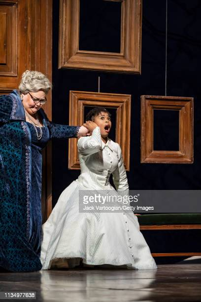 American mezzosoprano Stephanie Blythe and South African soprano Pretty Yende perform during the final dress rehearsal prior to the season premiere...