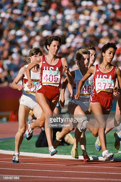 American middle distance runner Ruth Wysocki in action during the Women's 800 metres at the 1984 Olympics in Los Angeles August 1984 Lorraine Baker...