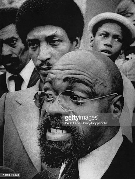 American middleweight boxer Rubin 'Hurricane' Carter and his codefendant John Artis outside Hudson County courthouse New Jersey 12th October 1976 The...