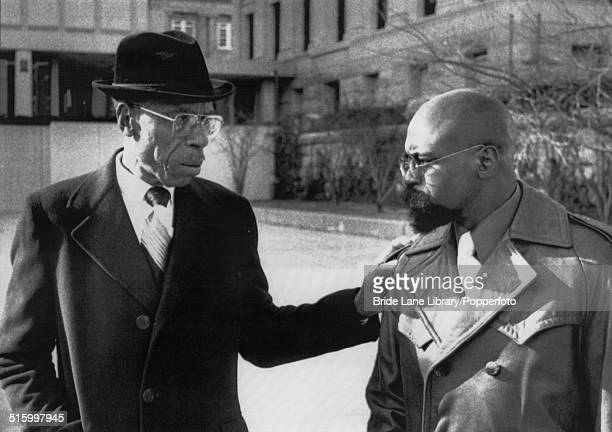 American middleweight boxer Rubin 'Hurricane' Carter with his father Lloyd Carter Snr outside Passaic County courthouse 22nd November 1976 Rubin...