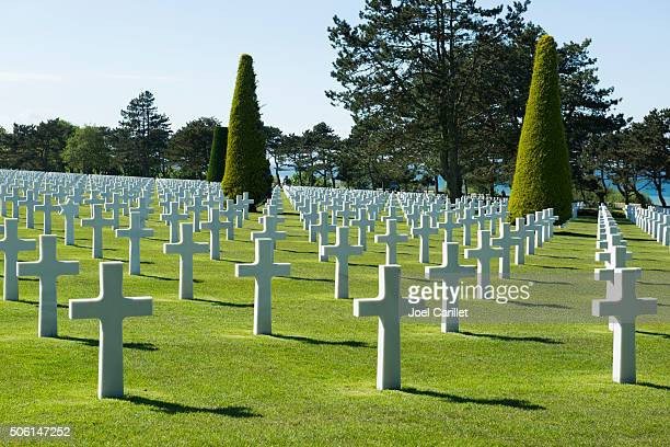 American military cemetery at Colleville-sur-Mer, Normandy, France