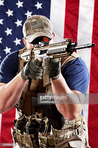 american military contractor - ammunition magazine stock photos and pictures