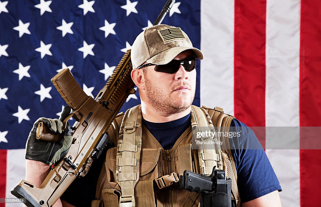 American Military Contractor : Stock Photo
