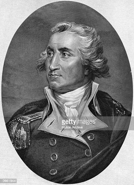 American military leader George Washington later the 1st President of the United States Of America Original Artwork Portrait is based on a picture by...