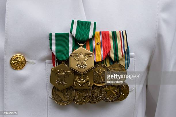 american military medals - us military emblems stock pictures, royalty-free photos & images