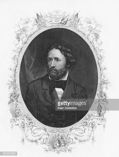 American military officer and explorer John Charles Fremont circa 1850 Engraving by J C Buttre