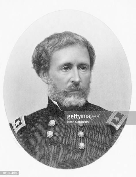 American military officer and explorer John Charles Fremont circa 1850 Engraving by J C Buttre after Lockwood