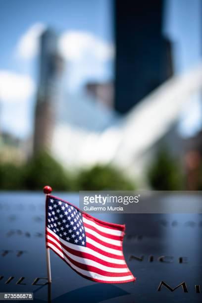 American Mini Flag at Memorial