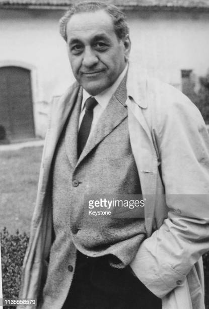American mob boss Tony Accardo during a holiday visit to the Certosa di Pavia a Carthusian monastery in Pavia Italy 26th October 1959 Accardo is...