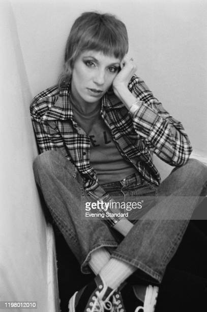 American model, actress and journalist Angie Bowie, UK, 28th March 1977.