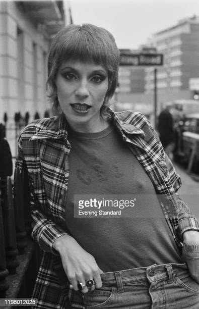 American model actress and journalist Angie Bowie UK 28th March 1977