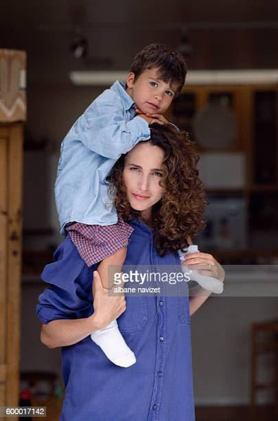 American model and actress Andie MacDowell and her son Justin