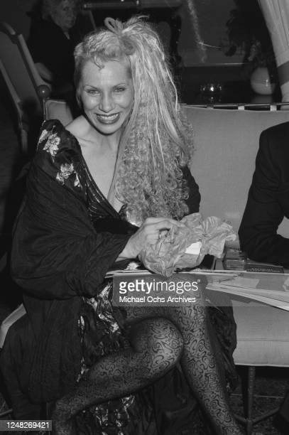 American model and actress Angie Bowie attends the 38th Annual Primetime Emmy Awards in Pasadena California 21st September 1986
