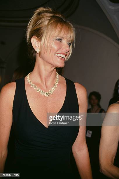 American model and actress Cheryl Tiegs at the QVC 'FFANY Shoes on Sale' benefit for breast cancer, circa 1997.