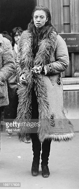 American model and actress Donyale Luna leaves Bow Street Magistrates' Court in London during a lunch recess 15th November 1968 Her friend actor Ian...