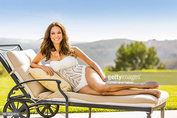 American model and actress Eva La Rue is photographed for First For Women on May 20 2016 in Malibu California