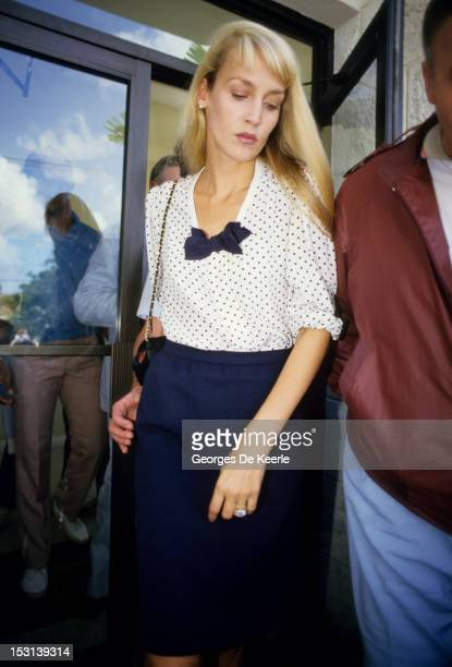 American model and actress Jerry Hall is arrested in Barbados on charges of marijuana smuggling February 14 1987