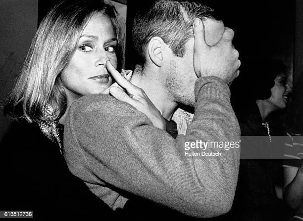 American model and actress Lauren Hutton attends the premiere of 'American Gigolo' with American actor Richard Gere 1980 Hutton and Gere both starred...